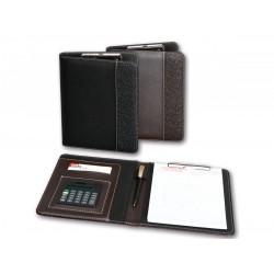 2K Kapaklı Sekreterlik A5 Hesap Makineli Siyah Suni Deri