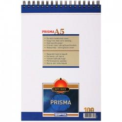 Gıpta Prisma Spiralli Karton Kapaklı Bloknot A5 Çizgilii 100 Yaprak 6' Lı