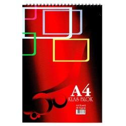 Klas Office Book Spiralli Bloknot A4 Kareli 100 Yaprak 6' Lı