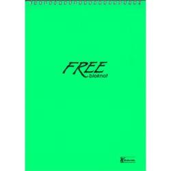 Keskin Color Free Office Spiralli Bloknot A5 Çizgisiz 100 Yaprak 6' Lı