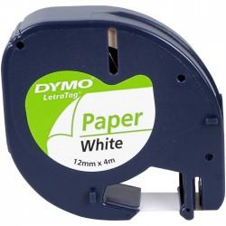 Dymo Letratag Kağıt Etiket 12 mm X 4 Metre Beyaz