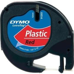 Dymo Letratag Plastik Etiket 12mm X 4 Metre Kırmızı