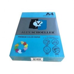 Alex Schoeller A4 Renklli Fotokopi Kağıdı 80g/m2 Koyu Mavi 500' Lü