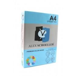 Alex Schoeller A4 Renklli Fotokopi Kağıdı 80g/m2 Açık Mavi 500' Lü