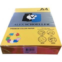 Alex Schoeller A4 Renklli Fotokopi Kağıdı 80g/m2 Turuncu 500' Lü