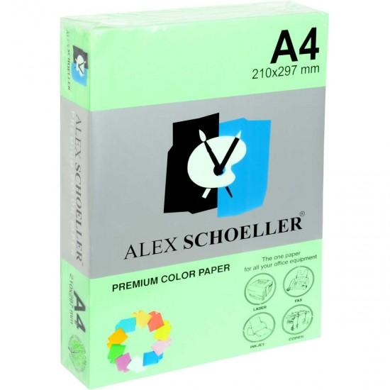 Alex Schoeller A4 Renklli Fotokopi Kağıdı 80g/m2 Koyu Yeşil 500' Lü