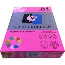 Alex Schoeller A4 Renklli Fotokopi Kağıdı 80g/m2 Pembe 500' Lü