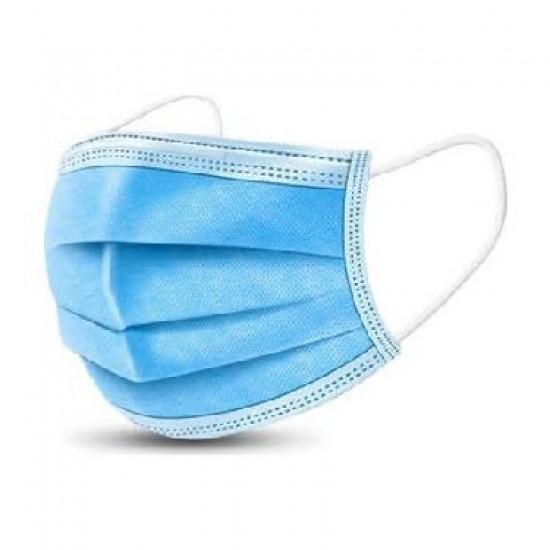 Mavi 3 Katlı Cerrahi Maske Telli 50' Li