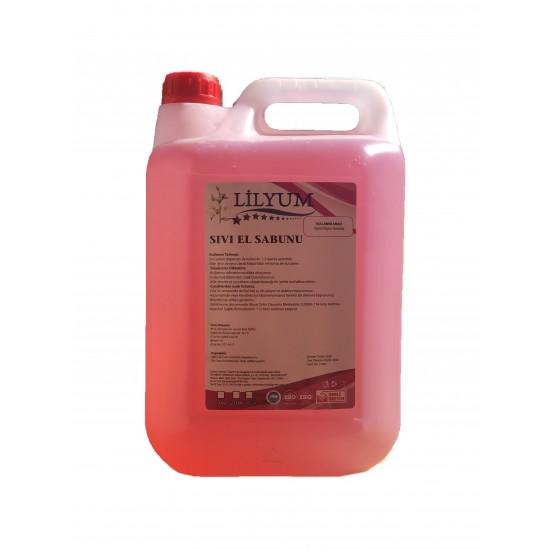 Lilyum Sıvı El Sabun 5 Kg (Pembe)