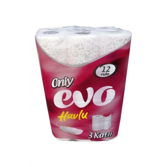 Only Evo 3 Katlı Rulo Havlu Kağıt 12' Li 2 Paket