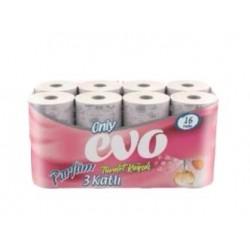 Only Evo 3 Katlı Parfümlü Tuvalet Kağıdı 16' Lı 3 Paket