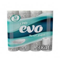 Only Evo 3 Katlı Tuvalet Kağıdı 32' Li 3 Paket