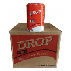 Drop Dispenser Peçete 250 Yaprak 18' Li