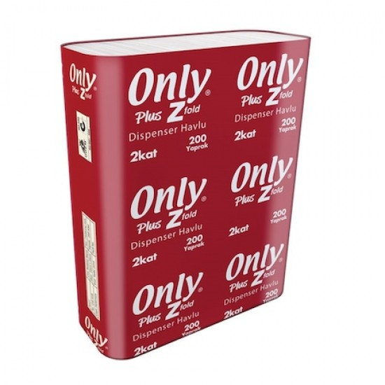 Only Plus Ultra Dispenser Havlu 21.5 Cm x 22.5 Cm 200 Yaprak 12' Li