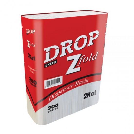 Drop Dispenser Havlu 21 Cm x 22.5 Cm 200 Yaprak 12' Li