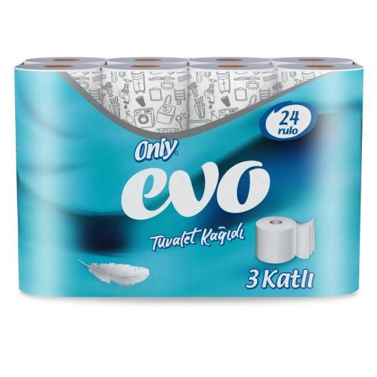 Only Evo 3 Katlı Tuvalet Kağıdı 24' Lü 3 Paket